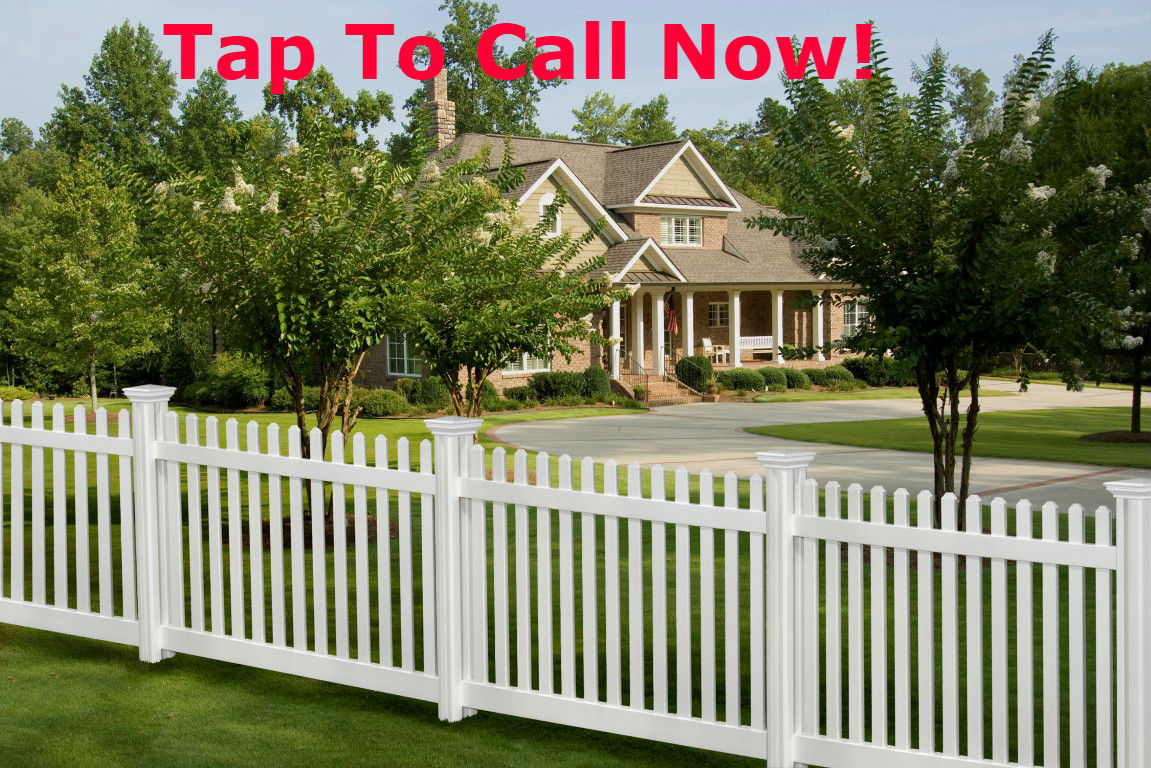 A white wood fence that has been installed in Wichita Texas