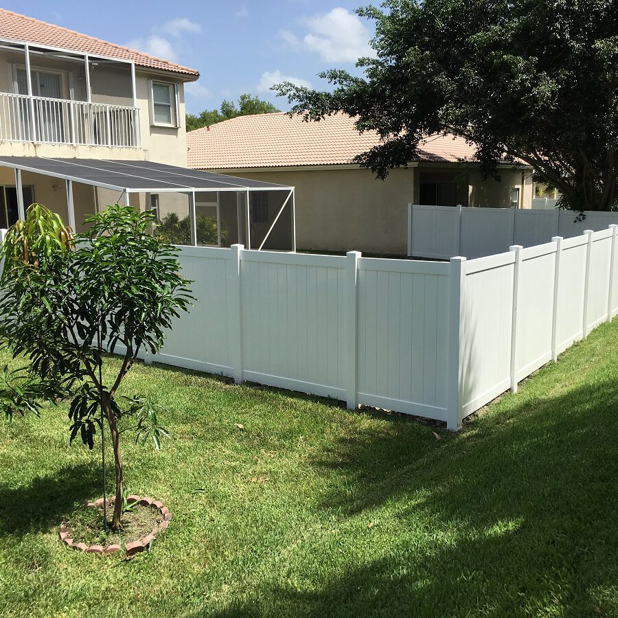 pvc residential privacy fencing